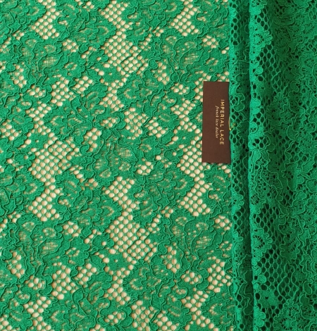Green guipure lace fabric. Photo 7