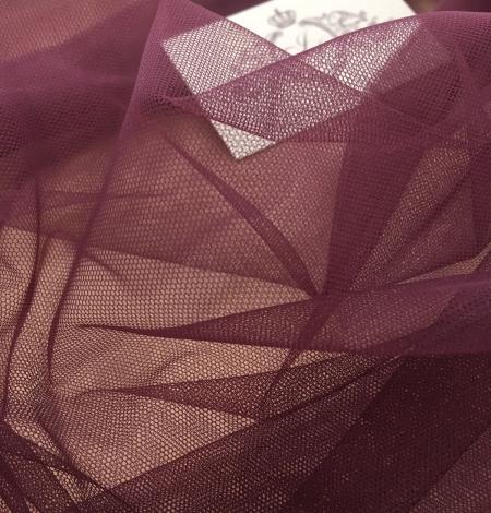 Tumši lillā krāsas tilla audums. Photo 5