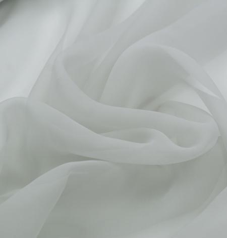 Gaiši pelēks zīda organzas audums. Photo 3