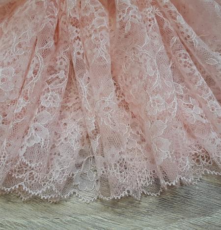 Gaiši rozā chantilly mežģīnes apdares lente. Photo 3