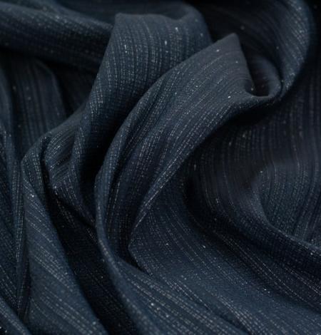 Tumši zils ar sudraba diegu žakarda audumu. Photo 4