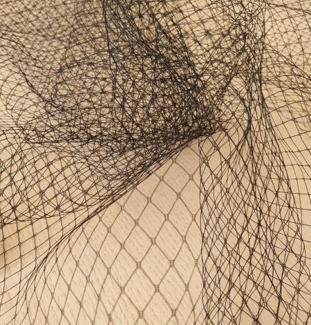 Melnas cepures tīkla tilla audums. Photo 5