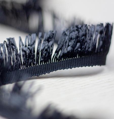 Melna ripsa lenta ar plastikas bārkstīm. Photo 2