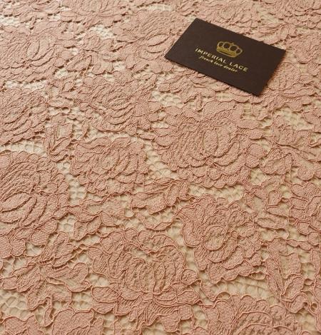 Nude guipure lace fabric. Photo 5