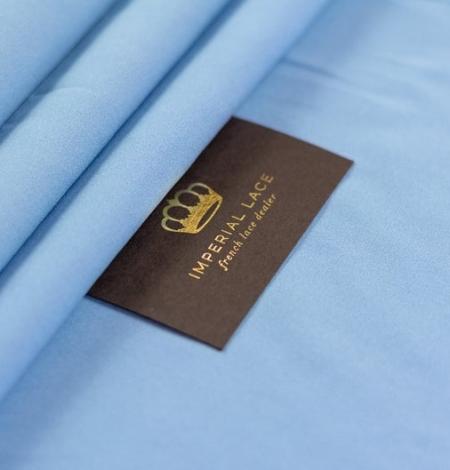 Zils zīda un elastāna krepa audums. Photo 6