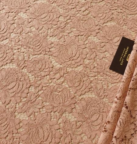 Nude guipure lace fabric. Photo 2