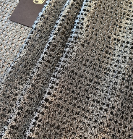 Metallic color guipure lace fabric . Photo 5
