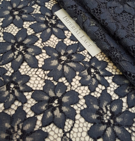 Blue with Gray Lace Fabric. Photo 1