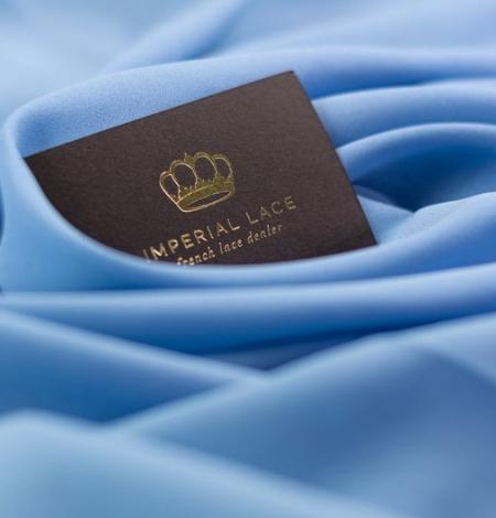 Zils zīda un elastāna krepa audums. Photo 4