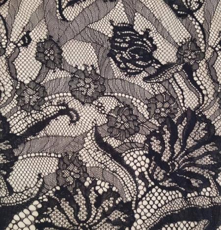 Melna Chantilly mežģīne. Photo 2