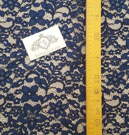Navy Blue Lace Fabric. Photo 4