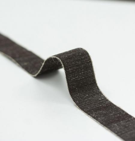 brūna elastīga vilnas lenta. Photo 1