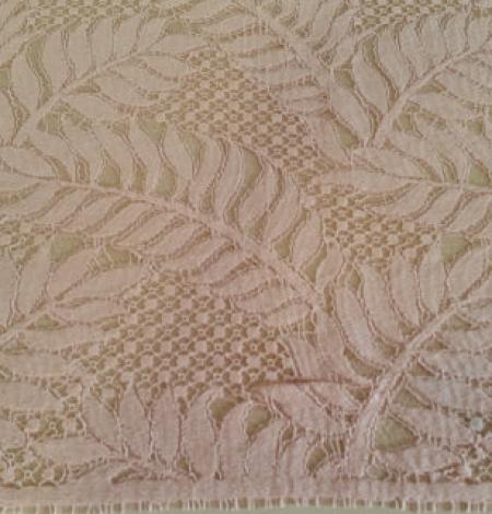 Rozā organiska raksta guipure mežģīņu audums. Photo 3