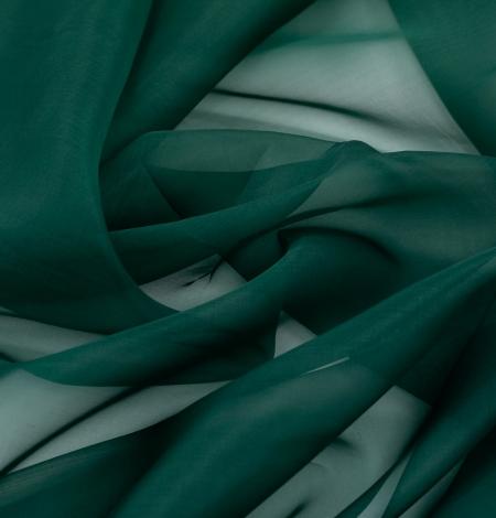 Rubīna zaļš zīda organzas audums. Photo 6