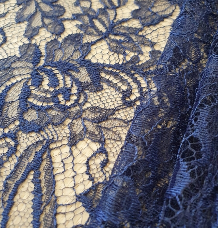 Tumši Jūras Zila Chantilly Mežģīne. Photo 3