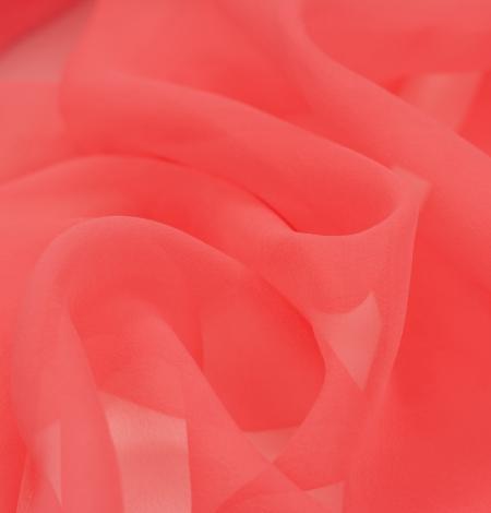 Koraļļu oranžs zīda organzas audums. Photo 4