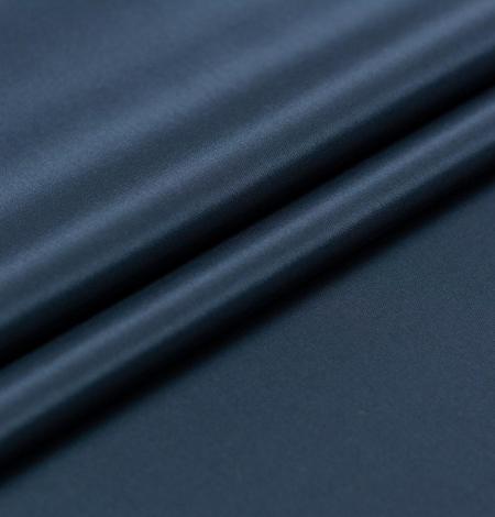 Tumši zila viskozes un elastāna oderes audums. Photo 3