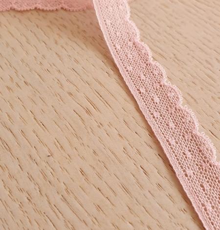 Gaiši rozā chantilly mežģīnes apdares lente. Photo 2