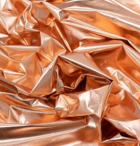 Bronzas krāsas spīdīgs lietusmēteļa audums. Photo 4