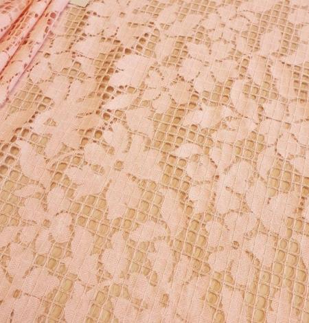 Rozā puķaina un rūtaina biezā mežģīne. Photo 3