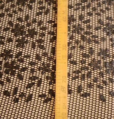 Black lace fabric. Photo 10