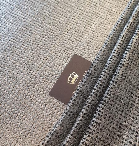 Metallic color guipure lace fabric . Photo 1