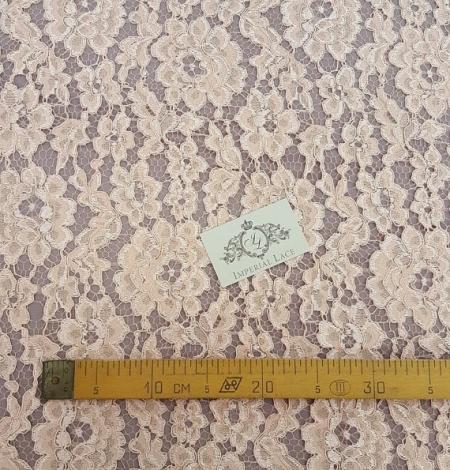 Salmon Lace Fabric. Photo 5