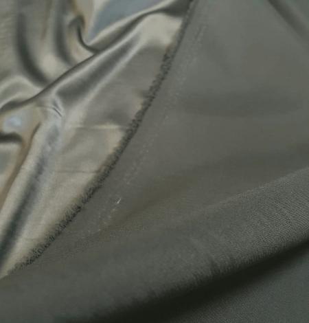 Olīvu zaļš satīna audums ar elastānu. Photo 4
