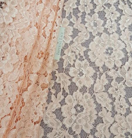 Salmon Lace Fabric. Photo 1