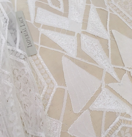 White Lace Fabric, French Lace. Photo 1