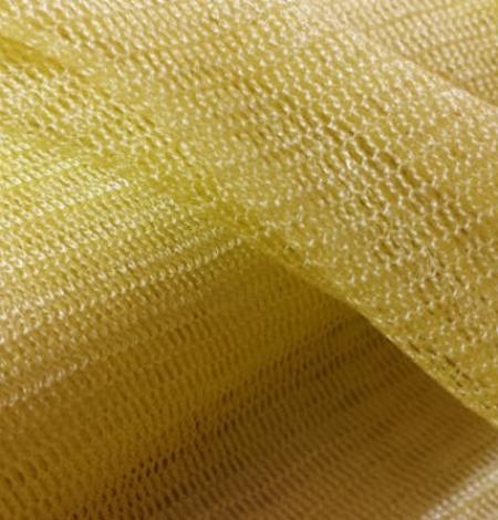 Dzeltens zīda tilla audums. Photo 4