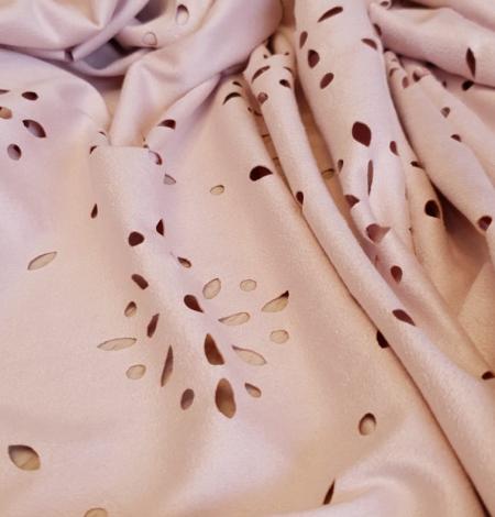 Oldrose velvet fabric. Photo 2