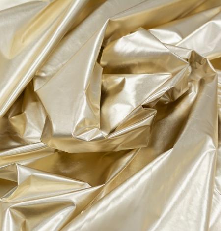 Zelta krāsas spīdīgs lietusmēteļu audums. Photo 3