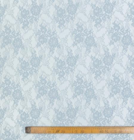Baložu zils ziedu raksta chantilly mežģīņu audums. Photo 9
