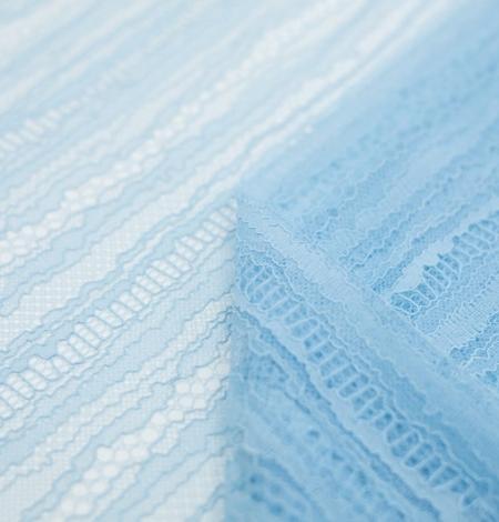 Gaiši zils abstrakts līniju chanttilly mežģīņu audums. Photo 5