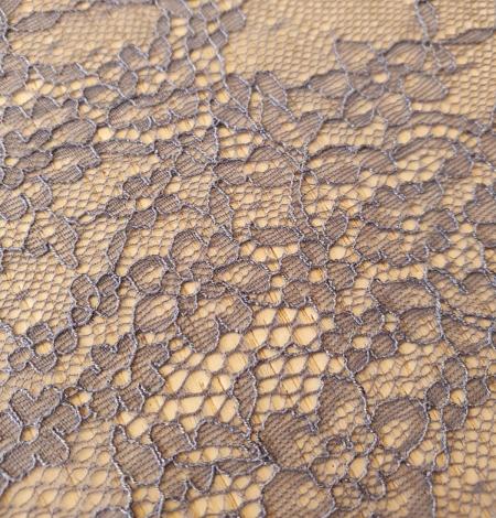 Zilipelēka plānā mežģīnes maliņa ar ziedu rakstu. Photo 2