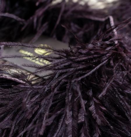 Baklažānu lillā maigs dabīgas strausa spalvas. Photo 3