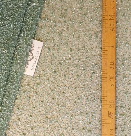 Zaļš pērļots mežģīņu audums. Photo 5