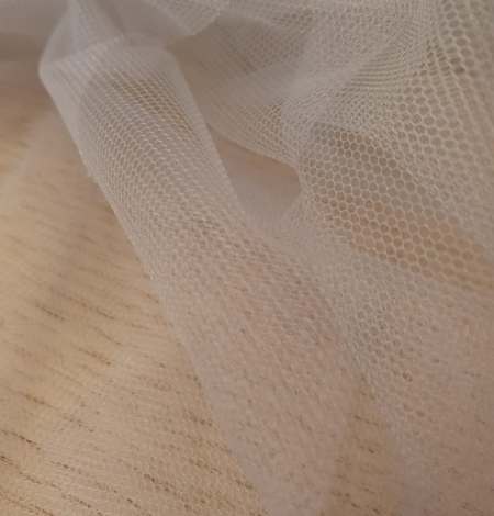 Zilganpelēks smalkas struktūras tilla audums no Itālijas. Photo 10