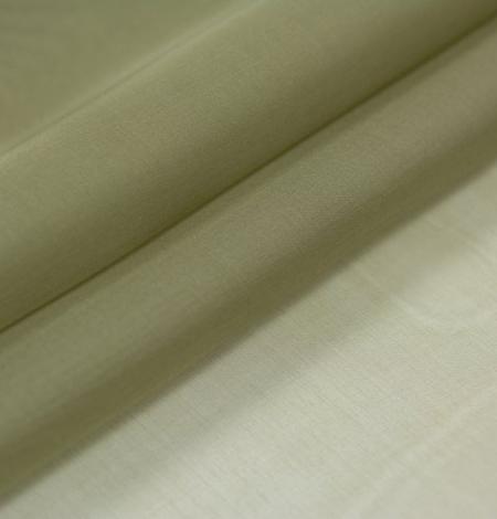 Olīvu zaļš zīda organzas audums. Photo 6