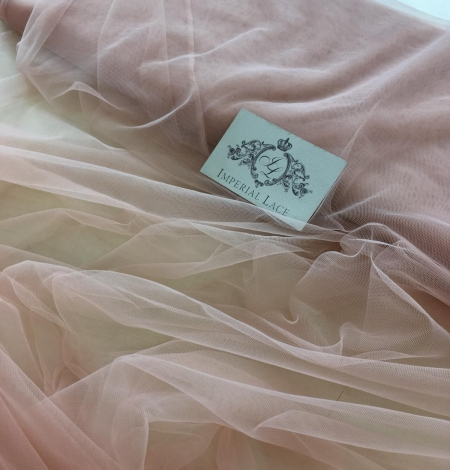 Pink lace tulle. Photo 6