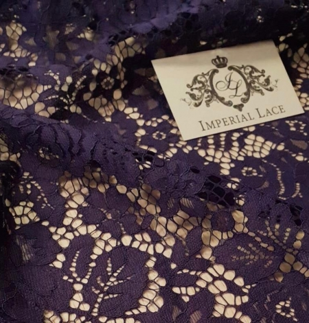 Lilac guipure lace fabric. Photo 4