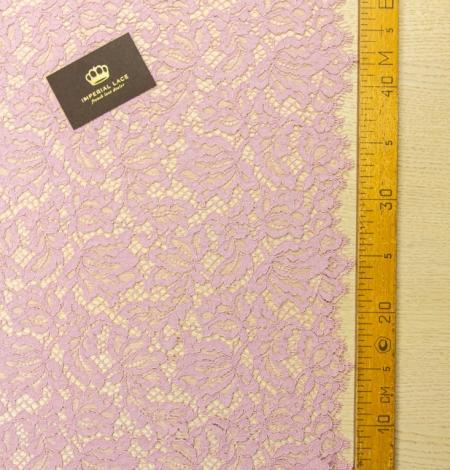 Gaiši rozā ziedu raksta guipure mežģīņu audums. Photo 9