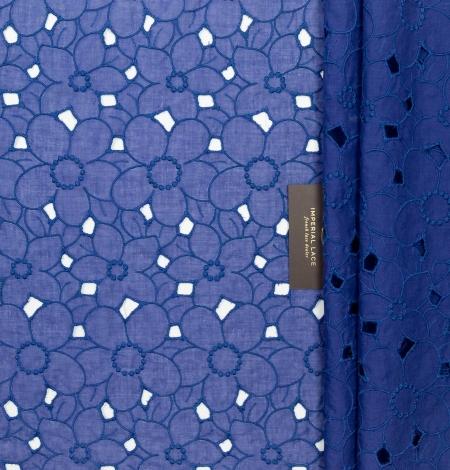 Zils ar lillā toni alencon mežģīnes audums. Photo 5