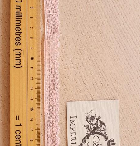 Gaiši rozā chantilly mežģīnes apdares lente. Photo 5