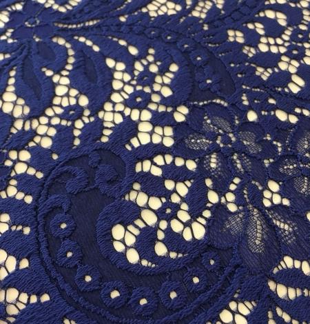 Navy blue lace fabric. Photo 2