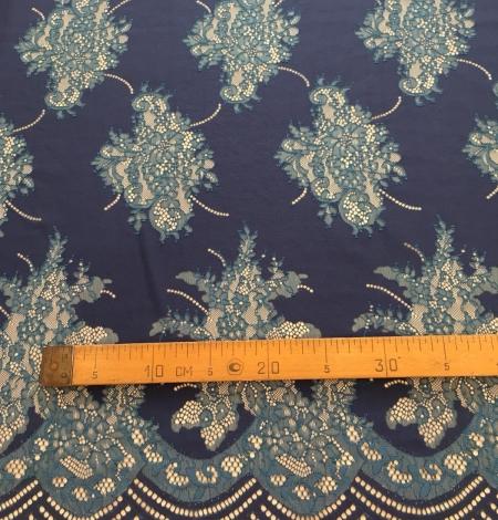 Dark lilac lace fabric. Photo 7