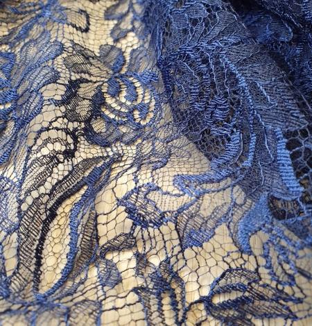 Tumši Jūras Zila Chantilly Mežģīne. Photo 6