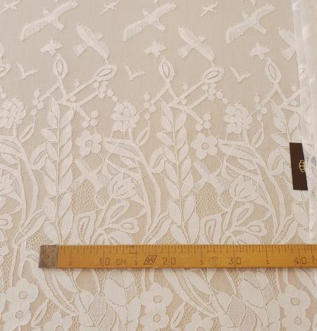 Ziloņkaula puķaina Chantilly mežģine. Photo 13