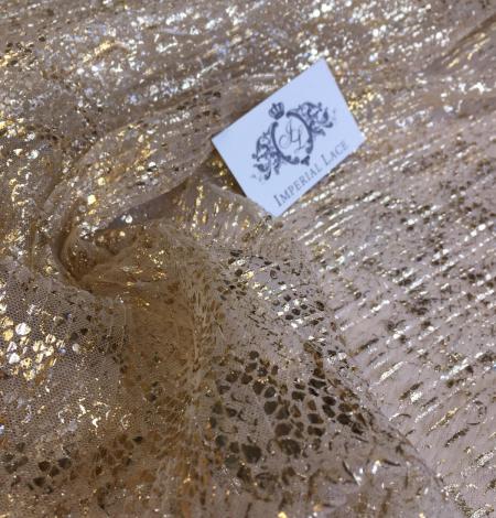 Miesas krāsas tilla audums ar zelta pārklājumu. Photo 8